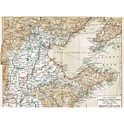China Zhi Li and Shandong Province Map from 1900