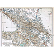 Caucasus Vintage Map from 1900