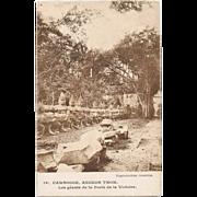SOLD Cambodia Angkor Thom Postcard to the USA 1958