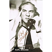 Karl Malden Autograph: Hand signed Photo. CoA