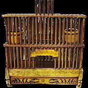 Antique Chinese Cricket Cage, Bone