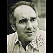 SOLD Michel Piccoli Autograph and Dedication. CoA