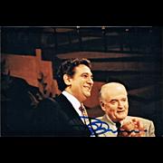 Placido Domingo and Marcel Prawy Photo. Domingo Signature. CoA