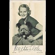 SOLD Brigitte Helm Autograph, hand signed Photo. CoA