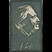 SOLD Franz Liszt Portrait Postcard with Nudes