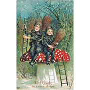 Embossed New Year Postcard. Very Attractive 1909