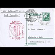 Aiship Zeppelin Mail LZ 130 Germany 1939