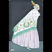 Exciting, scarce Mela Koehler Postcard Art Nouveau