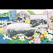 Old Japanese Postcard with Kobe Commemorative Strike 1908
