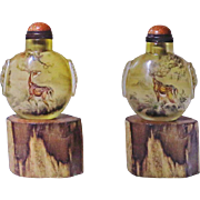 Chinese Inside Painted Glass Snuff Bottle by Meng Zishou