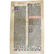 SOLD Gutenberg Bible Facsimile Page from 1898