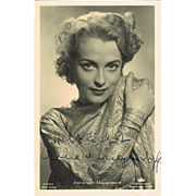 Irene von Meyendorff Autograph on Ross Photo: Nr. 1 Pin Up Girls and Goebbels Lover