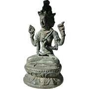 Antique Angkor Statuette 13. Ct