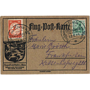German Zeppelin Mail Flug Post Karte 1913 Offenbach