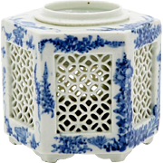 Old Chinese Porcelain Censer Republic Period