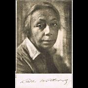 Kaethe Kollwitz Portrait Postcard from 1933