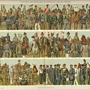 SOLD Uniforms. 167 Images of antique Uniforms. 2 Chromo Lithographs from 1902