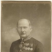Cabinet Photo of highly decorated Military, 1919.