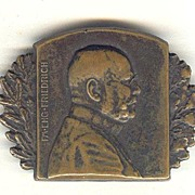 WWI: Portrait Pin Field Marshall Friedrich, 1915