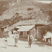 Old Photo from Herzegovina. Family in front of House