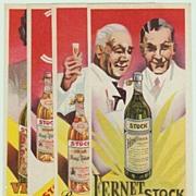 Fernet Bitters. 4 Different Vintage Ads