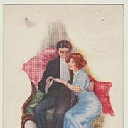 The Engagement: Vintage Postcard