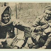 W.W.II.: German Soldiers in Morocco. Vintage Postcard