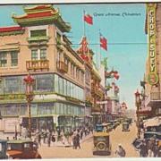 SOLD Chinatown: Postcard Folder sent to Austria. 1928
