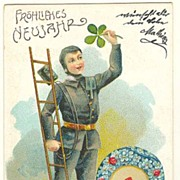New Years Litho Postcard from Europe, ca. 1900