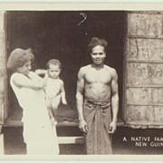 New Guinea vintage Photo. Family Portrait.