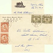 Republic of China: Attractive Letter to USA. 1929