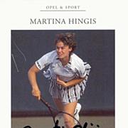Martina Hingis Autograph. CoA