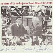SOLD James Bond. Desmond Llewelyn Autograph on Special Print.