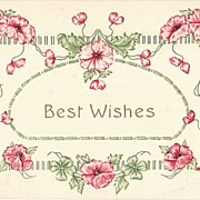 Best Wishes. Embossed Vintage Greeting Postcard