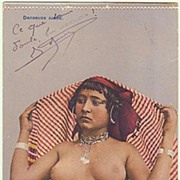 Arab Dancer: Vintage Postcard from 1917