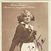 SOLD Maria Jeritza: Early Autograph from 1916. Hand-signed. CoA