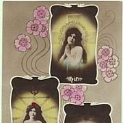 Art Nouveau Postcard: Faith, Confidence, Love. 1907