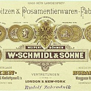 Decorative Advertising Postcard with Medals. Pre 1910