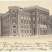 Sarajevo City Hall: Military Postcard from 1903