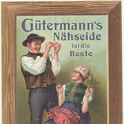 Old Advertising for Sewing Silk. Lithograph