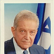 Ezer Weizman Autograph: Former President of Israel. Signed Photo. CoA