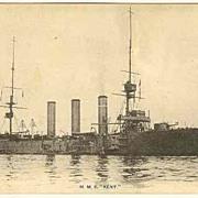 H. M. S. Kent: Japanese Postcard