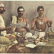 Brahmans: Vintage Postcard from 1903. Sent India to Italy