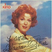 Maureen O'Hara Autograph. CoA
