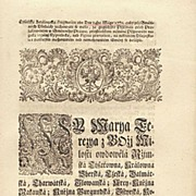 Antique Document. Edict by Empress Maria Theresa from 1772