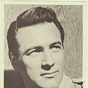 Rock Hudson: Real Autograph on early Trading Card. CoA