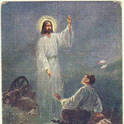SOLD W.W.I.: Postcard with fallen Solder and Jesus.