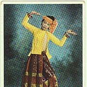 A Burmese Dancer. Vintage Postcard.