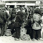 Cultural Revolution China: Authentic Photo of a Market in Guangdong.