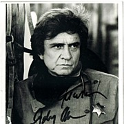 SOLD Johnny Cash Autograph: Hand signed Photo. CoA